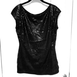 The limited black sequin top
